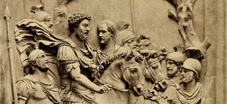Relieve de Marco Aurelio y sus guardias