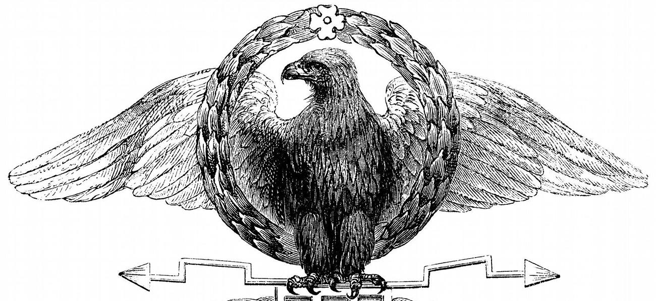 Ilustración del águila romana.